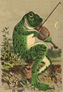 This is a small picture of a frog playing a violin
